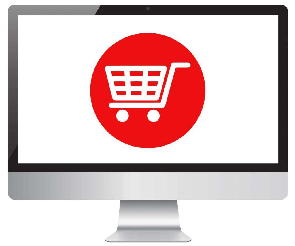 computer-online-shopping-cart